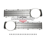Ford NEW XY GT Grille Insert Pair Left + Right + Fitting Kit surround grill