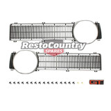Ford NEW Grille Insert Pair Left + Right XY + GT Badge + Fitting Kit surround
