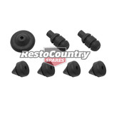 Holden Number Plate Mount Rubber Grommet Front + Rear HQ HJ HX HZ WB