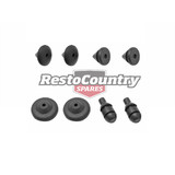 Holden Number Plate Mount + Bump Rubber Grommet Kit FRONT + REAR EJ EH