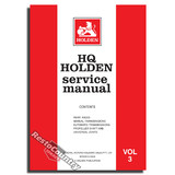 Holden GMH Factory HQ Vol 3. Service Manual-Axle Transmission. NEW workshop book