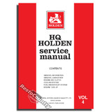 Holden GMH Factory HQ Vol 4 Service Manual -Engine Clutch Fuel NEW workshop book