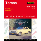Gregory's Holden Torana Workshop Service + Repair Manual 6Cyl LH LX book 173 202