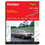 Holden HQ HJ - 6cyl Workshop Service + Repair Manual 1971-76 book