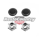 Holden Radio / Stereo Knob Set Chrome HK HT HG Torana LC LJ AUSTRALIAN MADE dash