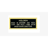 Holden EH HK HT HG HQ Oil Cap Decal