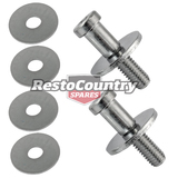 Holden Chrome Door Striker Bolt x2 HQ HJ HX HZ WB Torana LH LX UC lock latch nut