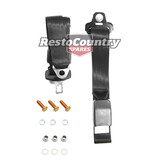 Holden LAP SASH Seat Belt x1 BLACK Adjustable Web Stalk HK HT HG HQ HJ HX HZ WB
