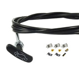 "Bonnet Release Cable NEW 100"" Universal 'T' Handle Holden Ford Valiant +Fitting kit"