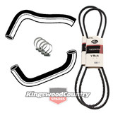 Holden Service Radiator Hose +Clamp +Fan+AC Belt Kit WB V8 253 308 4.2 5. Air #F