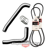 Holden Service Radiator Hose +Clamp +Fan +AC Belt Kit HQ HJ HX HZ V8 253 308 #F