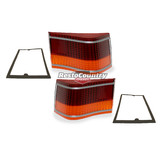Holden HG Taillight Lens+Gasket x2 Sedan Monaro Coupe brake tail light indicator