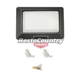 Holden Interior Light Lens BLACK BASE + LENS HT HQ HJ HX HZ WB Torana LH LX UC