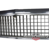 Holden HZ NEW Grille Also Fit HJ HX. Chrome Surround / Grey Centre Grill