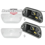 Holden Torana CLEAR Front Indicator Assembly x2 Lens + Body LH LX Left + Right