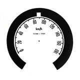 Holden Metric Speedo Conversion Decal FB EK 180 KPH gauge sticker