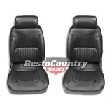 Autotecnica 'Classic Deluxe' Bucket Seat PAIR +Head Rest PU Leather QUALITY SS43