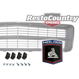 Holden HQ SILVER Grille + Badge insert + Moulding + Screw kit Belmont Kingswood