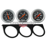 Speco 2 5/8 Gauge Kit Boost + Oil Temp + Oil Pressure + Holder Panel Mechanical