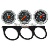 Speco 2 5/8 Gauge Kit Boost + Oil Pressure  +Water Temp +Holder Panel Mechanical