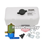 "Holden Washer Bottle + Pump + Fitting Kit ""HOLDEN"" Torana LC LJ HK HT HG HQ"