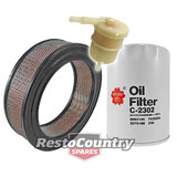 Holden Oil +Air +Fuel Filter Service Kit 6cyl EH HD HR HK HT HG HQ HJ HX HZ WB