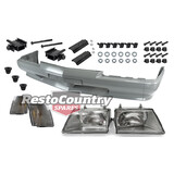 Holden Commodore VK Front Bumper Bar + Headlight + Mounting Bolt Kit OEM THICK