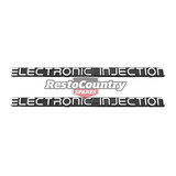 Holden 'Electronic Injection' Badge PAIR x2 VK VL Guard / Boot / Tailgate decal