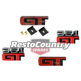 Ford '351 GT' Badge Set x4 Guard / Fender +Boot Panel +Grille XA GT SEDAN emblem