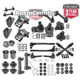 KIT 4. Ford POWER Tie Rod + Ball + Control Bush + Saddle Kit XA XB XC ZF ZG ZH