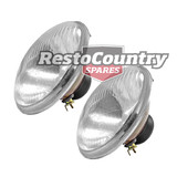 "Holden H4 7"" Headlight x2 ROUND Lens HQ HJ HX HZ Semi Sealed Hi-Low WITH Parker"