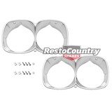 Holden HQ Twin Headlight Surround Rim Pair ANODISED Premier + LS Monaro x2