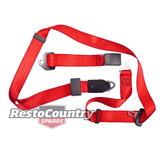 Holden Torana LAP SASH Seat Belt RED Adjustable Webb LC LJ LH LX UC ADR Aus Made