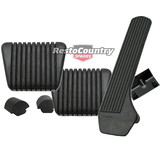Holden HR Brake +Clutch Pedal Pad +Accelerator Pedal +Bump Stop kit x5 manual