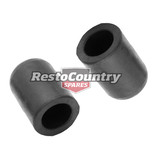 Rubber Water Blanking / Block Off Cap PAIR 1/2 12mm ID Round End plug stop pipe