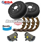 Ford Rear DRUM Brake PAIR +Shoes +Cylinders Set NEW XR XT XW XY XA XB stop drums