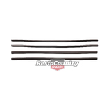 Holden Door Weather Belt Rubber Strip FRONT +REAR INNER Commodore VB VC VH VK VL