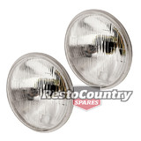 "Holden H4 7"" Headlight Pair x2 HQ HJ HX HZ Semi Sealed Hi - Low beam NO Parker"