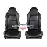 Autotecnica High Back Sport Bucket Seat PAIR May fit Ford XA XB XC Leather