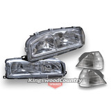 Holden Commodore VL Headlight + Indicator Set NEW Left + Right head
