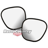 Ford XY GT HO GS Exterior Door Mirror GLASS ONLY Pair x2 LEFT + RIGHT