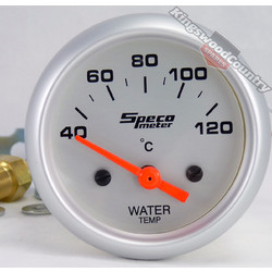 Speco 2 inch Electric Water Temp Gauge & Sender 40-120C NEW instrument