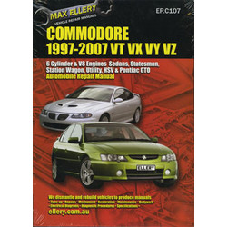 Holden Commodore Workshop Repair Manual VT VU VX VY VZ 1997 - 2007 book