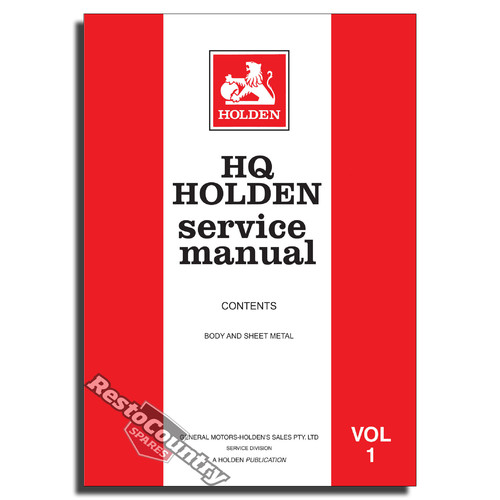 Holden gmh factory hq vol 1 service manual body sheet metal new holden gmh factory hq vol 1 service manual body sheet metal new workshop sciox Gallery