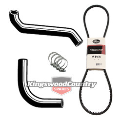 Holden Service Radiator Hose +Clamp +Fan Belt Kit HQ HJ HX HZ 6cy173 202 No Air