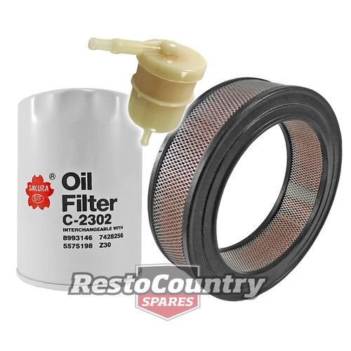 Holden Service Oil +Air +Fuel Filter Kit 4 & 6cyl 138 149 161 173 179 186 202