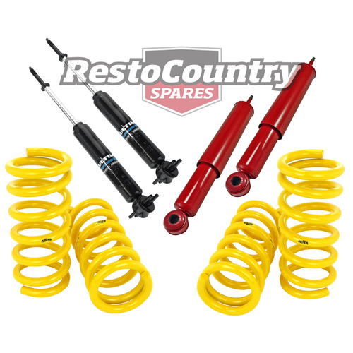 Holden Coil Spring +Shock HQ HJ HX HZ Sedan Coupe V8 FRONT REAR Super Low 50mm